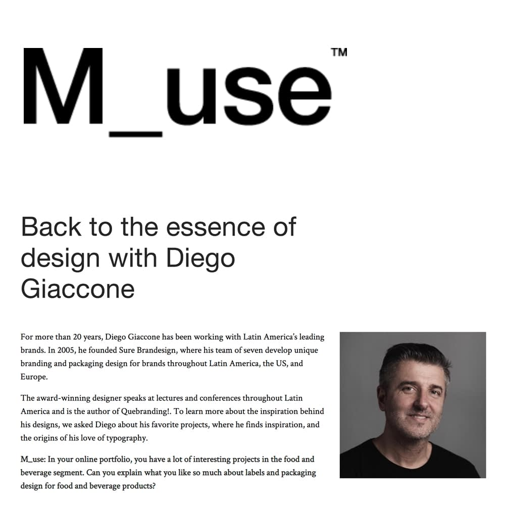 BACK TO THE ESSENCE OF DESIGN WITH DIEGO GIACCONE